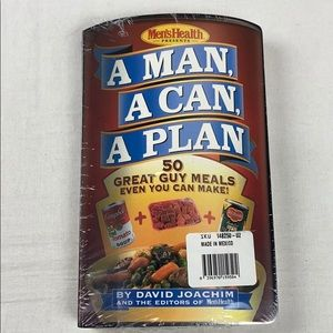 A Man A Can A Plan Cookbook by Men's Health New